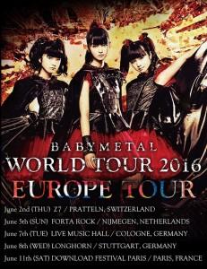 Babymetal Tour