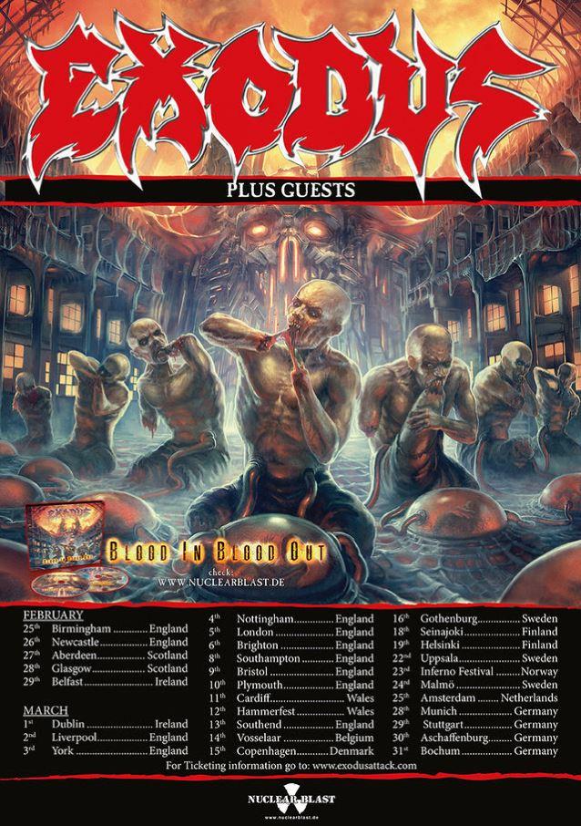 Exodus European Tour Poster