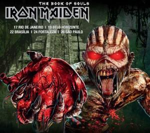 Poster Iron Maiden Tour Brasilien 2016